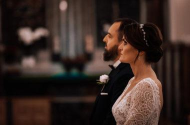 fotoreportaż ślubny Paulina i Robert kościół Klemensa Hofbauera wesele Hotel Bellotto zdjęcia